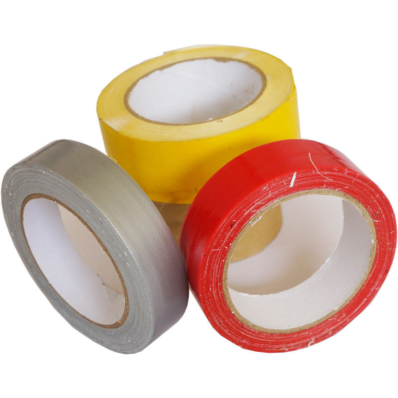 Colored Reinforced Cloth Duct Tape Flexible Anti Abrasion For Home Decoration