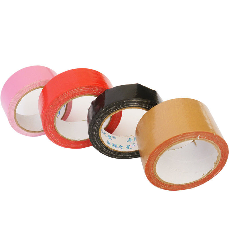 Hot Melt Adhesive Colored Sticky Cloth Tape High Bond Anti Corrosion Fit Package