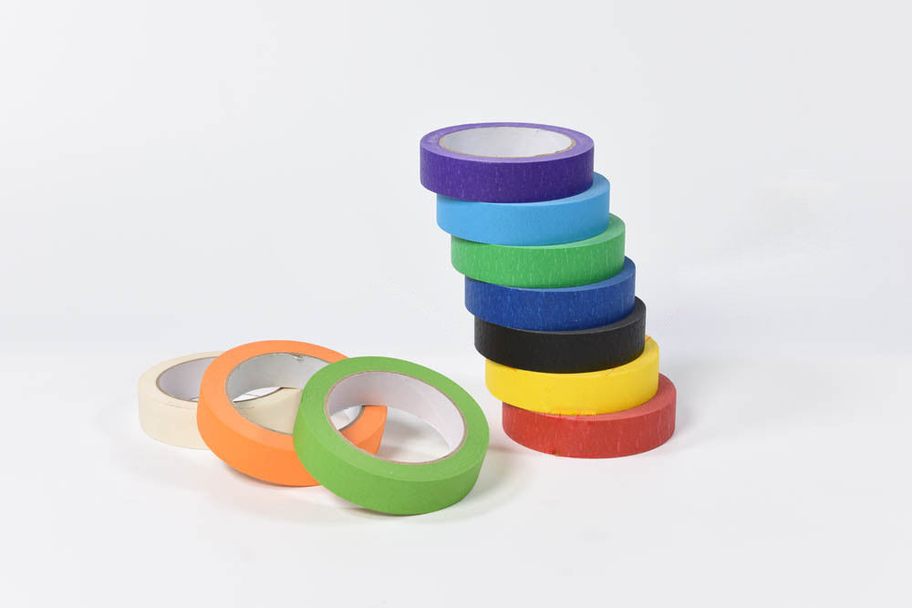Resist 80 Degree Multi Colored Packing Tape High Adhesion Easy Tear Indoor Usage