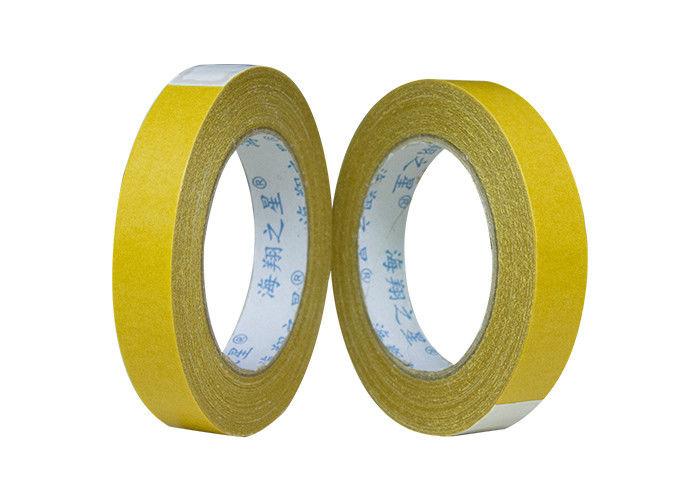 Indoor / Outdoor Yellow 2 Inches 30Y Double Sided Carpet Tape For Rugs , Mats , Pads , Runners