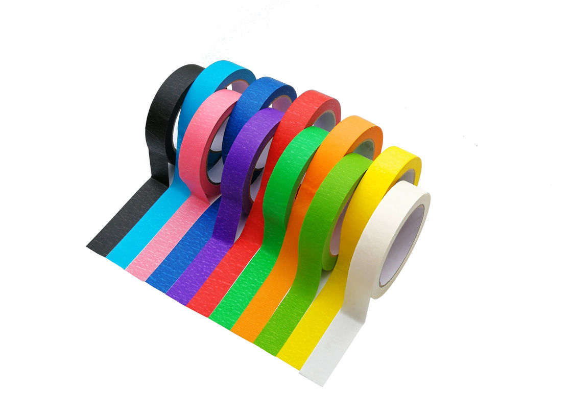 Residue Free Colored Masking Tape Natural Rubber Adhesive For Arts And Crafts